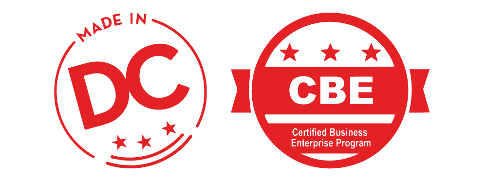 made in dc and certified business enterprise logos